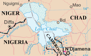 Lake Chad and surrounding area
