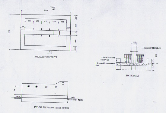 Technical Drawing of the Kongbari Water Project