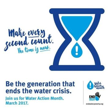 End Water Poverty - water action month