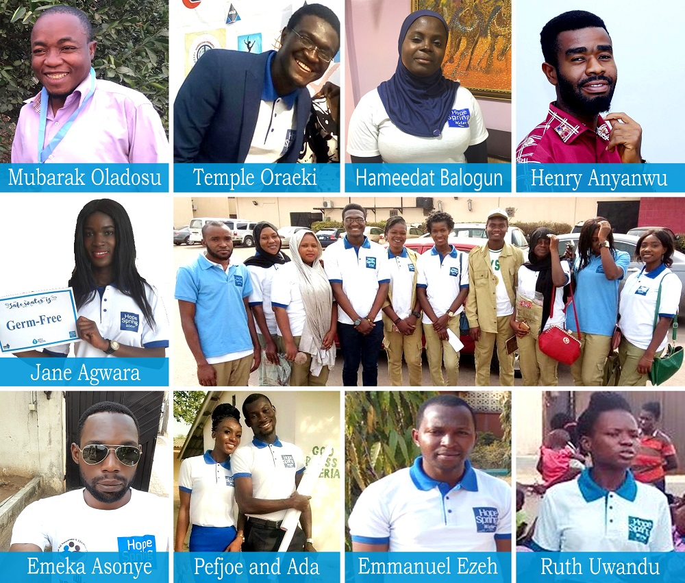 Hope Spring Water Nigeria volunteers